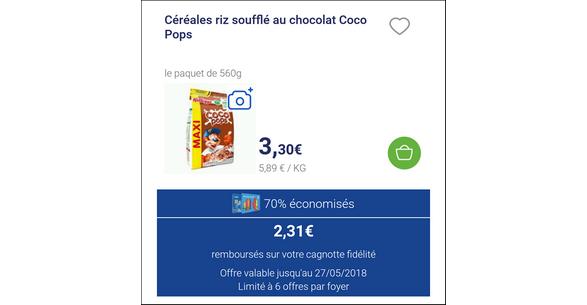 Bon Plan Céréales Coco Pops de Kellogg's chez Carrefour Market - anti-crise.fr