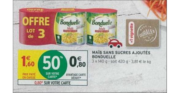 Bon Plan Maïs Bonduelle chez Intermarché - anti-crise.fr