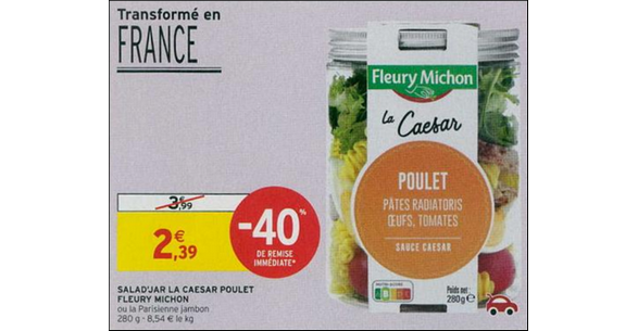 Bon Plan Salad'Jar Fleury Michon chez Intermarché - anti-crise.fr