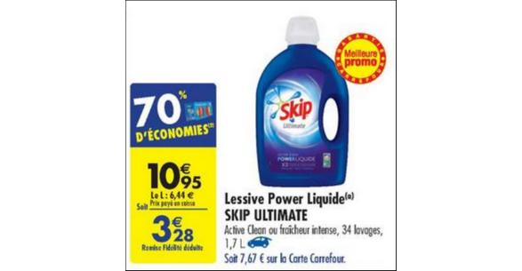 Bon Plan Lessive Liquide Skip chez Carrefour - anti-crise.fr