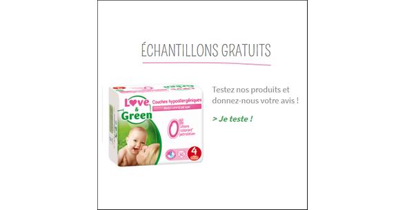 Echantillon Gratuit Love & Green : Couches pour Bébé - anti-crise.fr