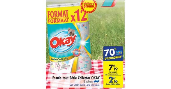 Bon Plan Essuie-Tout Okay chez Carrefour - anti-crise.fr