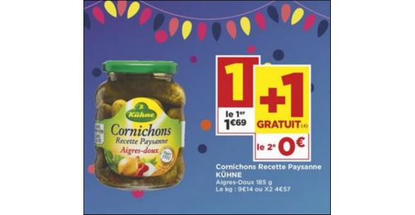 Bon Plan Cornichons Kühne chez Casino - anti-crise.fr