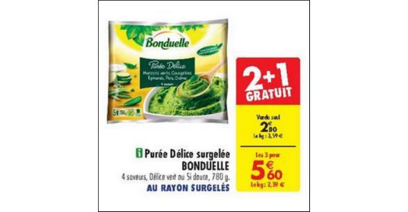 Bon Plan Purée Bonduelle chez Carrefour - anti-crise.fr