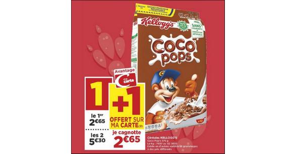 Bon Plan Céréales Coco Pops de Kellogg's chez Casino - anti-crise.fr