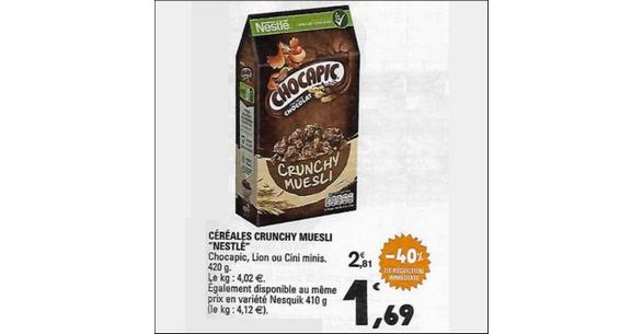 Bon Plan Céréales Crunchy Muesli Nestlé chez Leclerc - anti-crise.fr