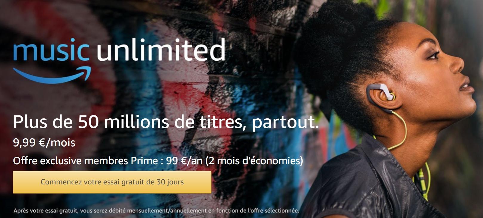 0.99€ les 4 mois de musiques illimitées avec Amazon Music