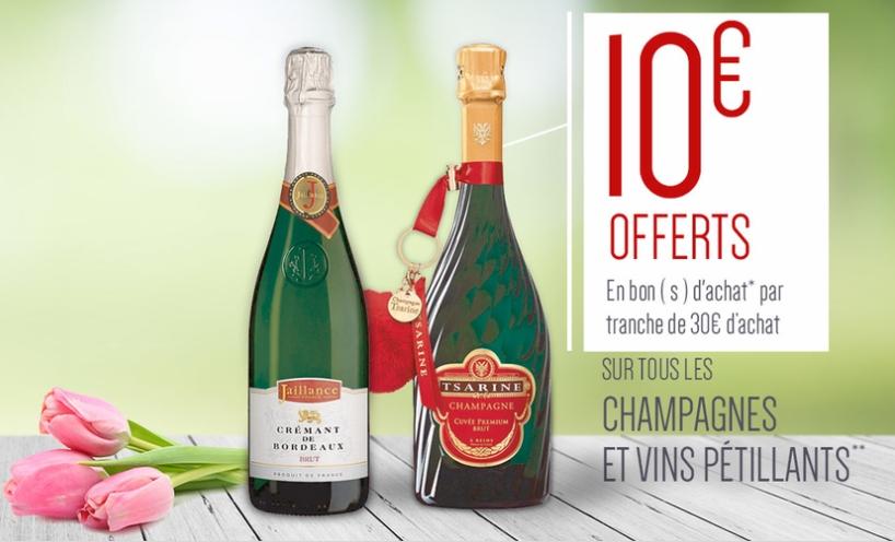 bon plan champagne carrefour