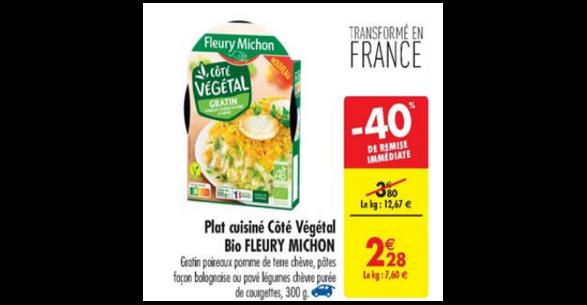 Bon Plan Plat Cuisiné Végétal Fleury Michon chez Carrefour (22/05 - 28/05) - anti-crise.fr