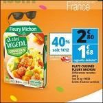 Bon Plan Plat Cuisiné Végétal Côté Fleury Michon chez Auchan (23/05 - 29/05) - anti-crise.fr