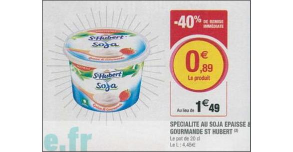 Bon Plan St Hubert® Soja Épaisse & Gourmande chez Magasins U - anti-crise.fr