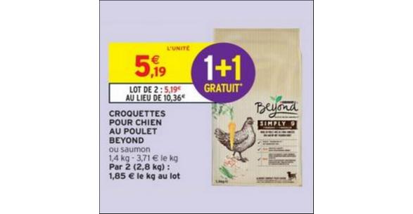 Bon Plan Croquettes pour Chien Beyond chez Intermarché - anti-crise.fr