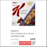 Bon Plan Barres Spécial K Croustillantes Kellogg's chez Géant Casino et Casino - anti-crise.fr