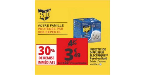 Bon Plan Diffuseur Electrique Raid chez Auchan - anti-crise.fr
