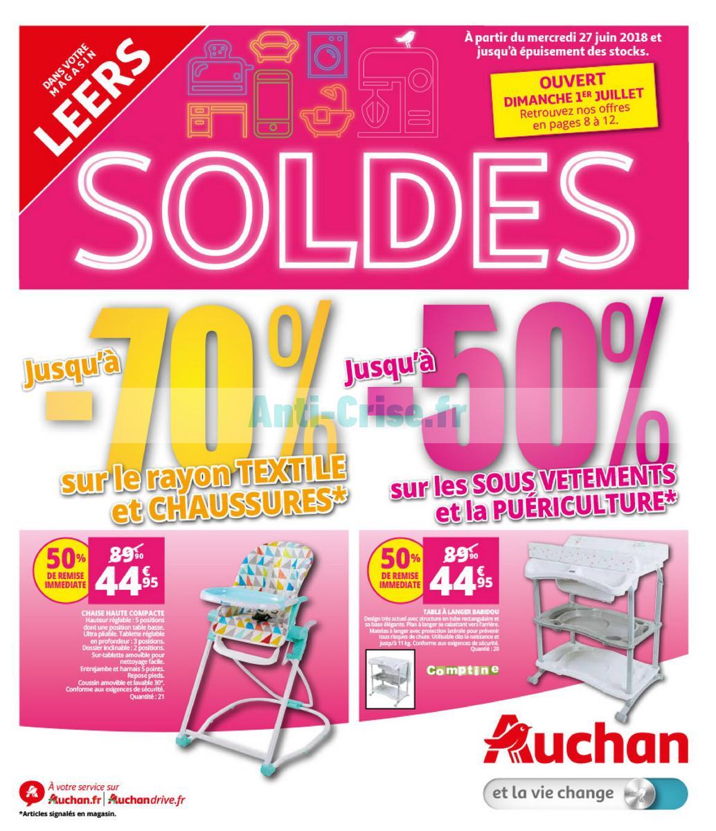 Catalogue Auchan Du 27 Juin Au 7 Aout 2018 Leers Catalogues