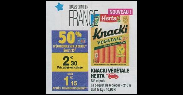 Bon Plan Knacki Végétale Herta chez Carrefour Market (26/06 - 01/07) - anti-crise.fr