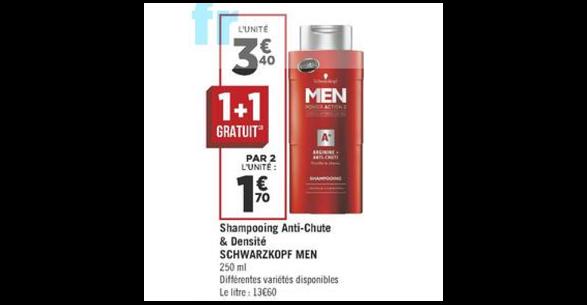 Bon Plan Shampoing Schwarzkopf Men chez Géant Casino (05/06 - 17/06) - anti-crise.fr