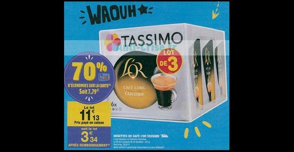 Bon Plan Dosettes de Café Tassimo L'Or chez Carrefour Market (26/06 - 01/07) - anti-crise.fr