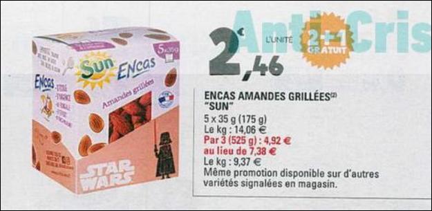 Bon Plan Encas Star Wars Sun chez Leclerc - anti-crise.fr