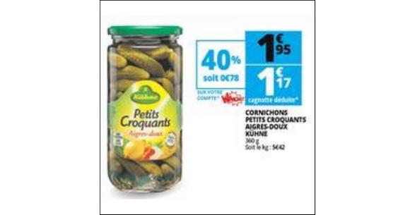 Bon Plan Cornichons Kühne chez Auchan - anti-crise.fr