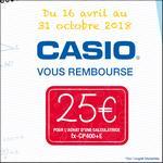 Offre de Remboursement Casio : 25€ Remboursés sur Calculatrice fx-CP400+E - anti-crise.fr