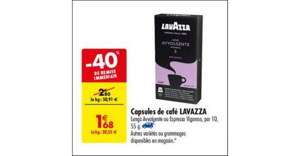 Bon Plan Capsules de Café Espresso Lavazza chez Carrefour - anti-crise.fr
