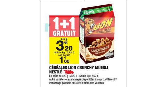 Bon Plan Céréales Lion Granola chez Carrefour Market - anti-crise.fr