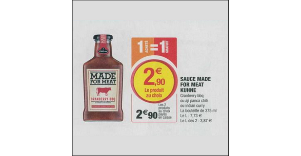 Bon Plan Sauce Made for Meat Kühne chez Magasins U - anti-crise.fr