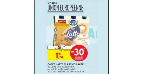 Bon Plan Caffé Latte Lactel chez Intermarché - anti-crise.fr