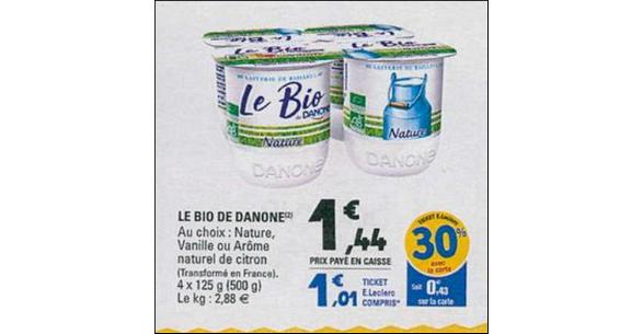 Bon Plan Le bio de Danone chez Leclerc - anti-crise.fr