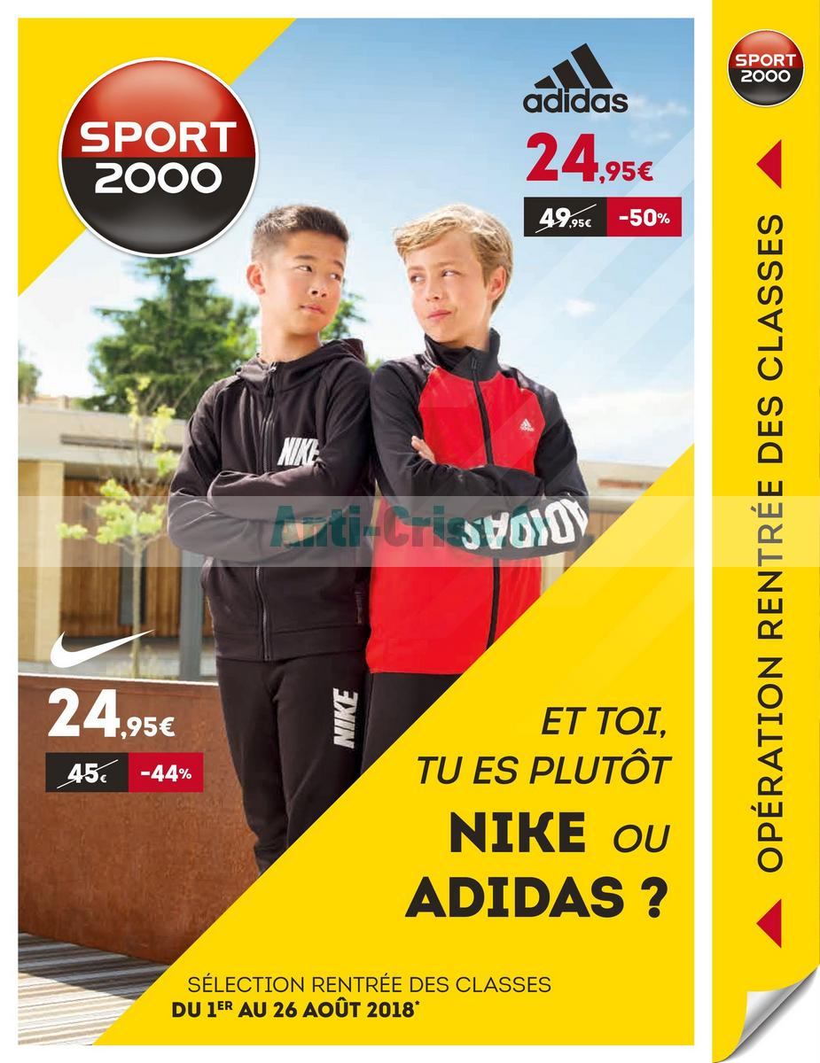 Catalogue Sport 2000 du 1er au 26 août 2018 Catalogues