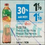 Bon Plan Boisson Fuze Tea chez Auchan (04/07 - 14/07) - anti-crise.fr