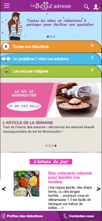 la belle adresse version mobile
