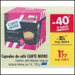 Bon Plan Capsules de Café Carte Noire Compatibles Dolce Gusto chez Carrefour (04/09 - 10/09) - anti-crise.fr