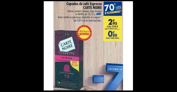 Bon Plan Capsules de Café Carte Noire Compatibles Nespresso chez Carrefour (04/09 - 10/09) - anti-crise.fr