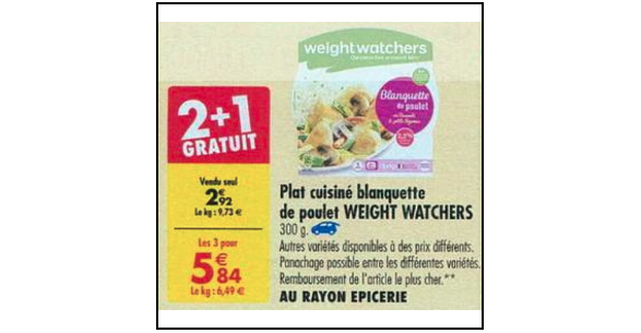 Bon Plan Plat Cuisiné Weight Watchers chez Carrefour (04/09 - 10/09) - anti-crise.fr