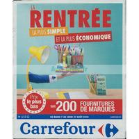 Catalogue Carrefour Du 7 Au 27 Aout 2018 Rentree Scolaire