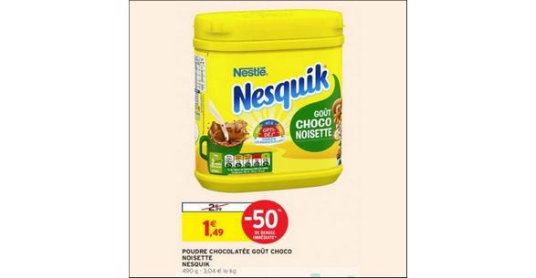 Bon Plan Poudre Chocolat Nesquik Noisette chez Intermarché - anti-crise.fr