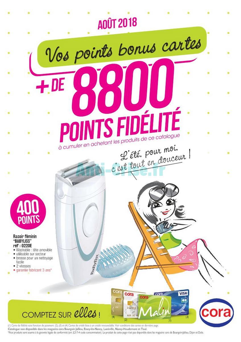 Cora Carte De Fidelite.Catalogue Cora Du 1er Au 31 Aout 2018 Points Fidelite