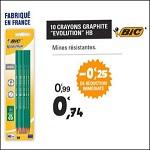 Bon Plan Crayons Graphite Evolution HB Bic chez Leclerc (14/08 - 25/08) - anti-crise.fr