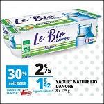 Bon Plan Yaourts Bio Danone chez Auchan (22/08 - 28/08) - anti-crise.fr