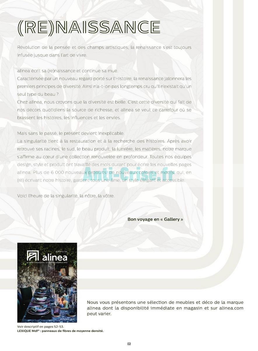 Catalogue Alinea Du 30 Août Au 31 Décembre 2018 Catalogues Promos