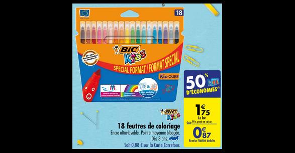 Carte Carrefour Bloquee.Bon Plan Feutres De Coloriage Bic Chez Carrefour 21 08 27