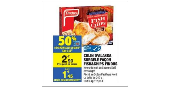 Bon Plan Bâtonnets Fish & Chips Findus chez Carrefour Market (21/08 - 02/09) - anti-crise.fr