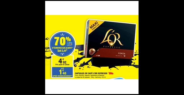 Bon Plan Capsules L'or Espresso chez Carrefour Market (21/08 - 02/09) - anti-crise.fr