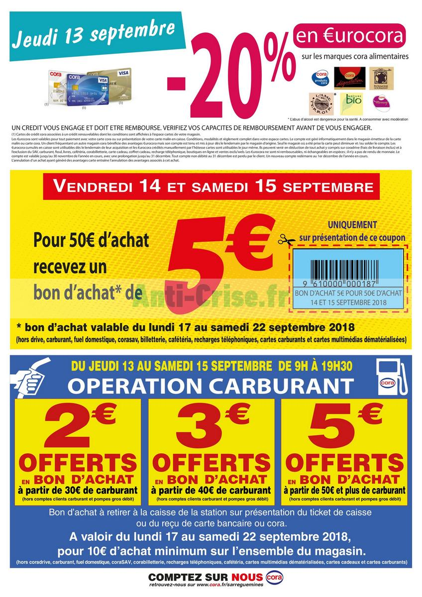 Catalogue Cora Du 11 Au 22 Septembre 2018 Sarreguemines