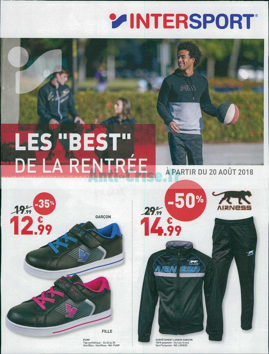 Catalogue Intersport Du 20 Aout Au 8 Septembre 2018 Catalogues Promos Bons Plans Economisez Anti Crise Fr