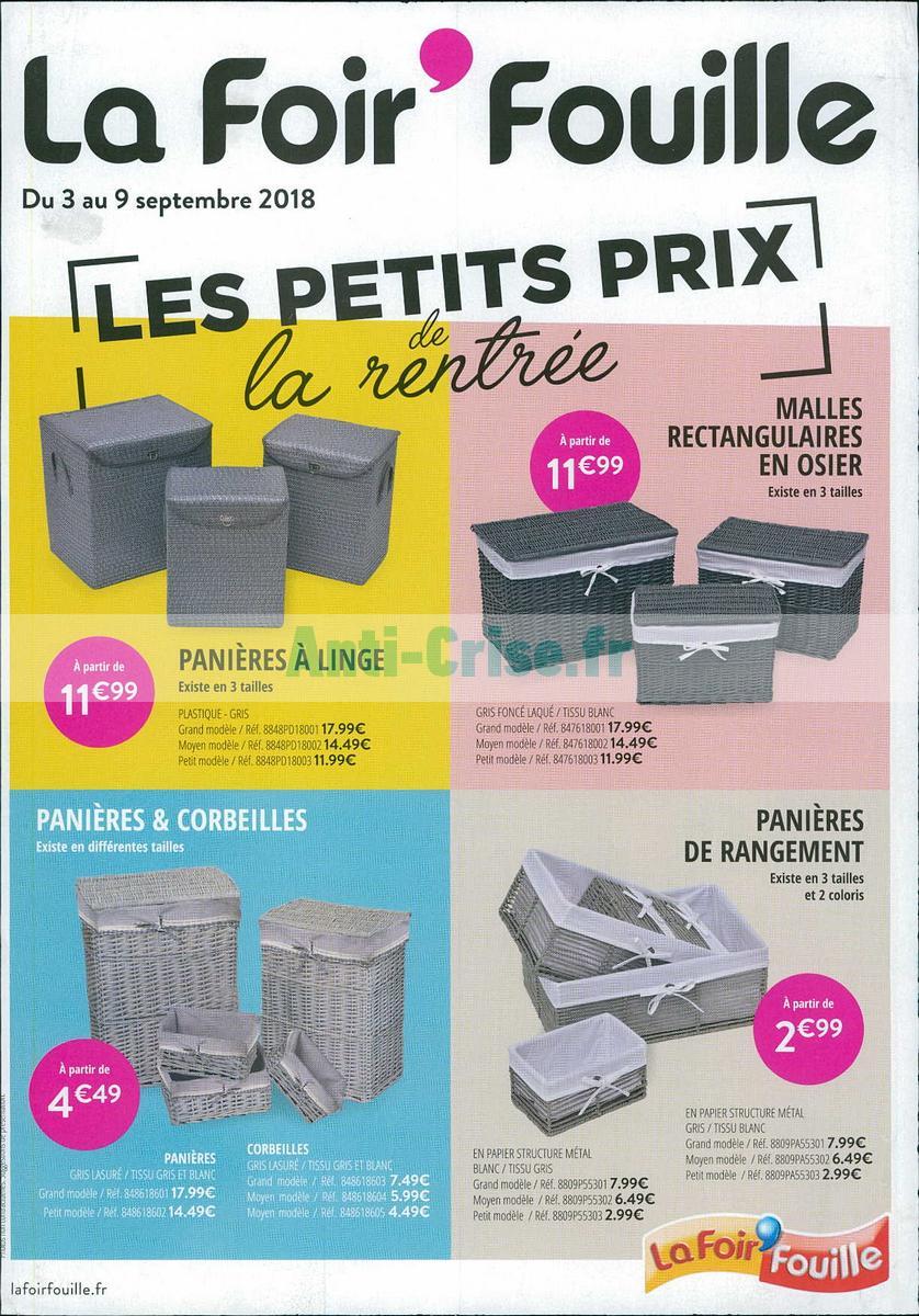 Catalogue La Foir Fouille Du 3 Au 9 Septembre 2018