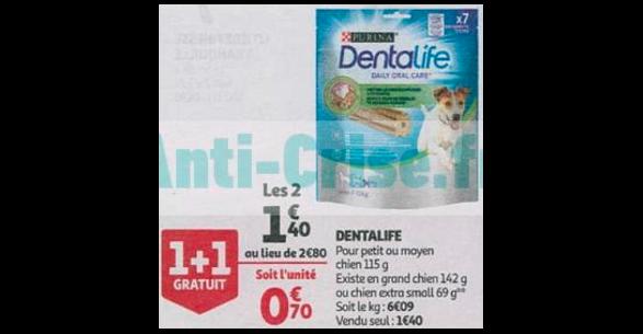 Bon Plan Purina Dentalife chez Auchan (26/09 - 02/10) -anti-crise.fr