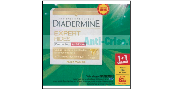 Bon Plan Crème Diadermine Expert chez Carrefour (02/10 - 08/10) - anti-crise.Fr